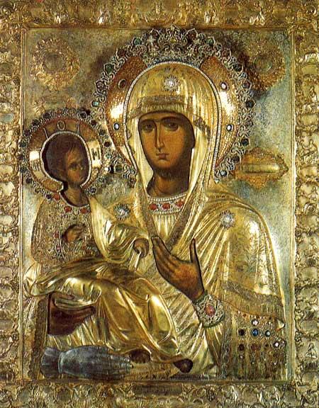 Икона Богородице Тројеручице
